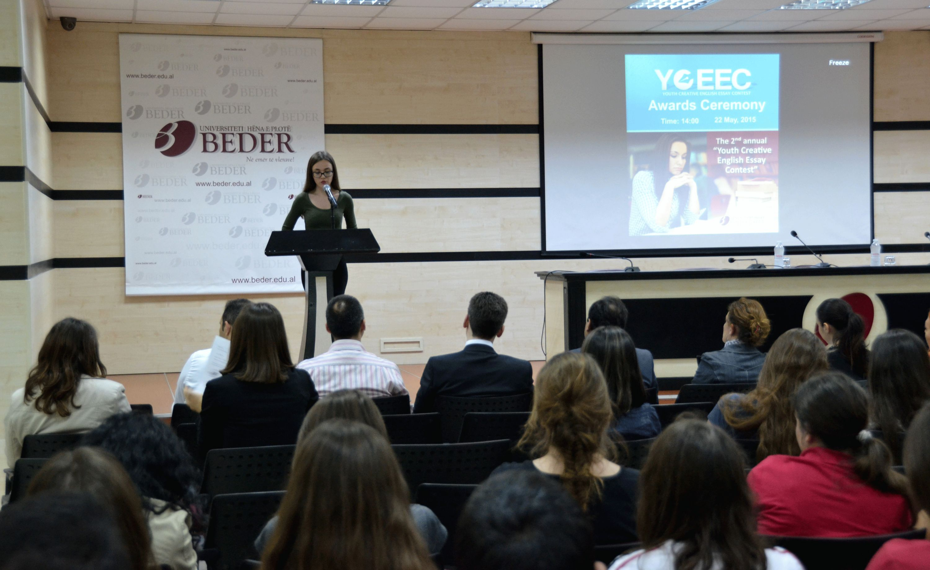 shkolla e lart euml h euml na e plot euml bed euml r get announced winners of beder university hosted the awards ceremony for the contest youth creative english essay contest the contest is organized for the 2nd time in cooperation