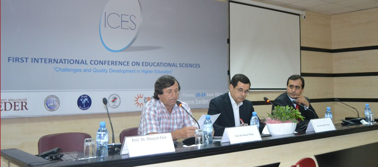"Develops First International Conference on Educational Sciences ""Increasing Quality and the Challenges of Higher Education"""